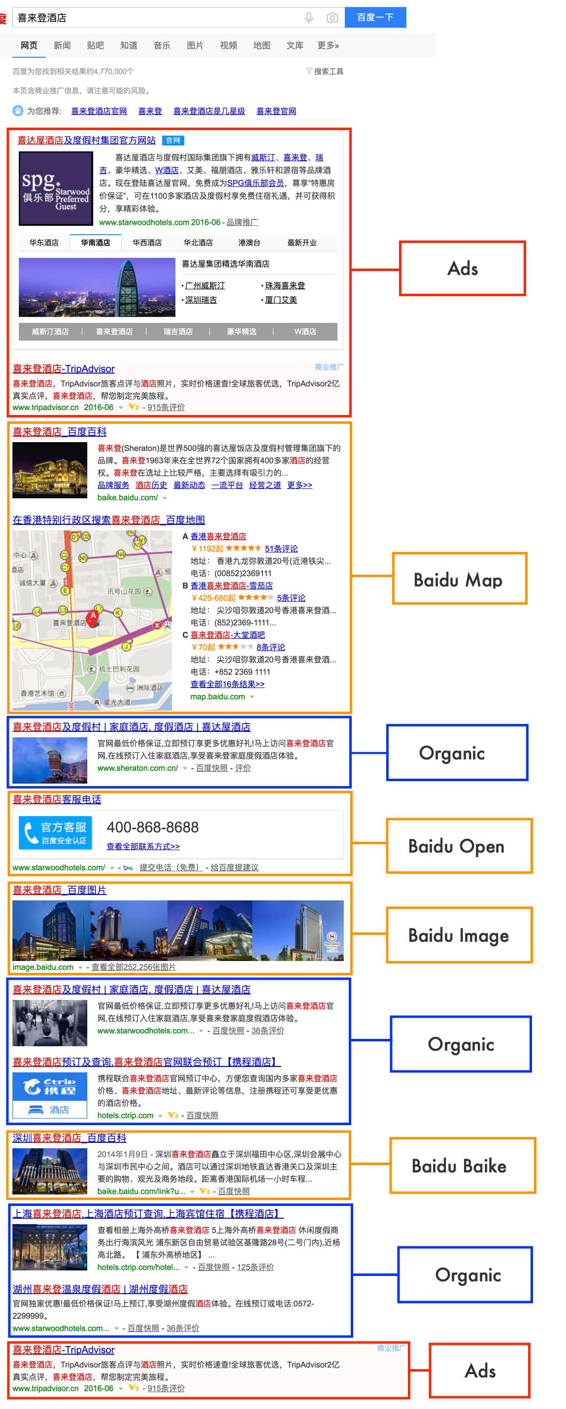 바이두 SEO 검색페이지 (브랜드 검색)